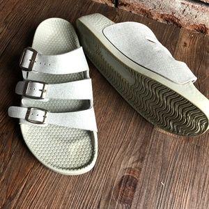BIRKENSTOCK Birki's Gray Slides Sandals ~sz 38.5